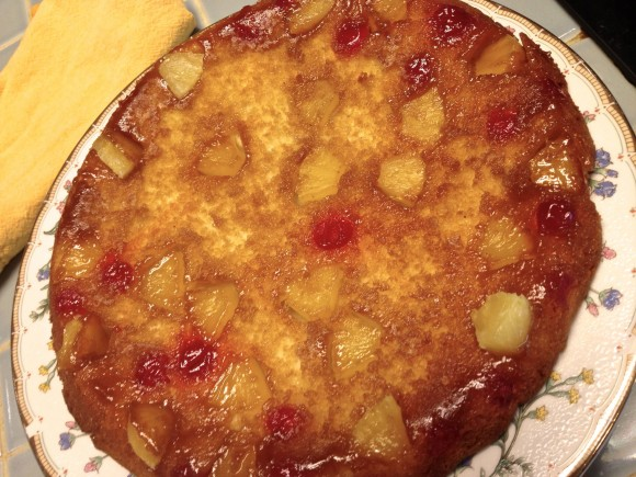 ... the weekend and a Recipe for Pineapple Upside Down Cake in a Skillet
