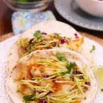 Fish Tacos With Curried Broccoli Slaw For One