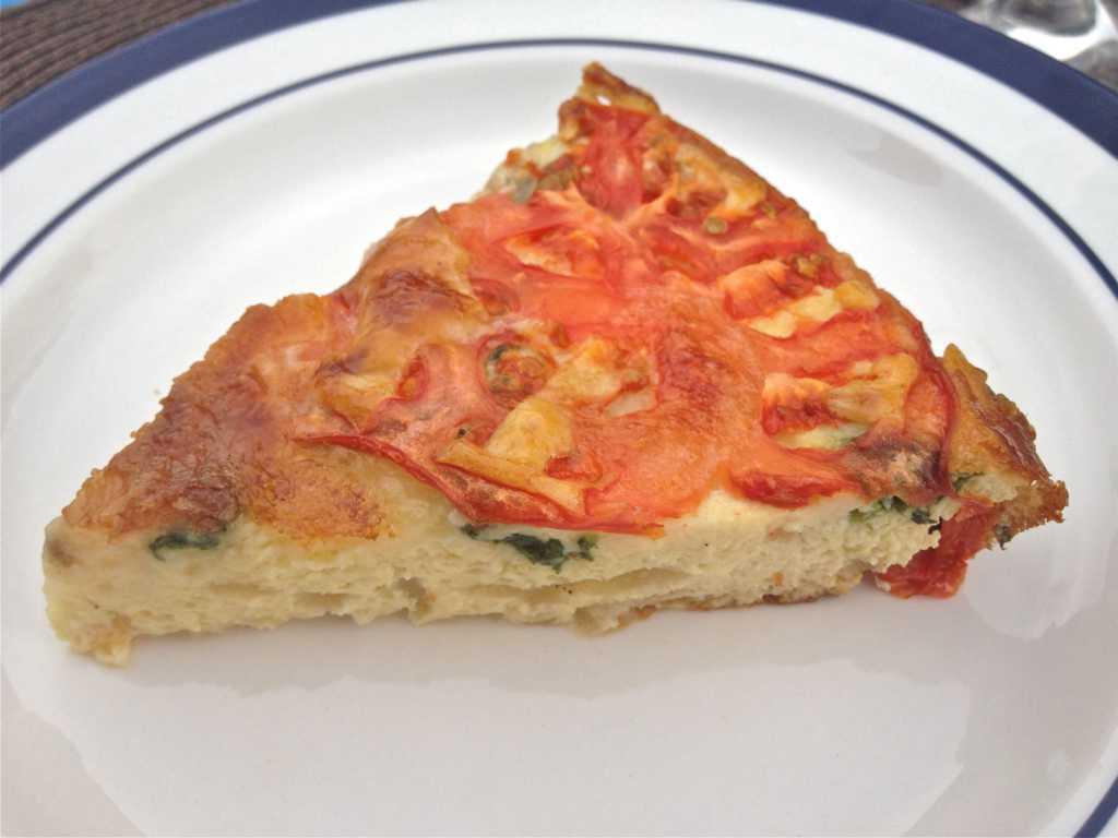 Spinach, Tomato and Brie Crustless Quiche by Zagleft
