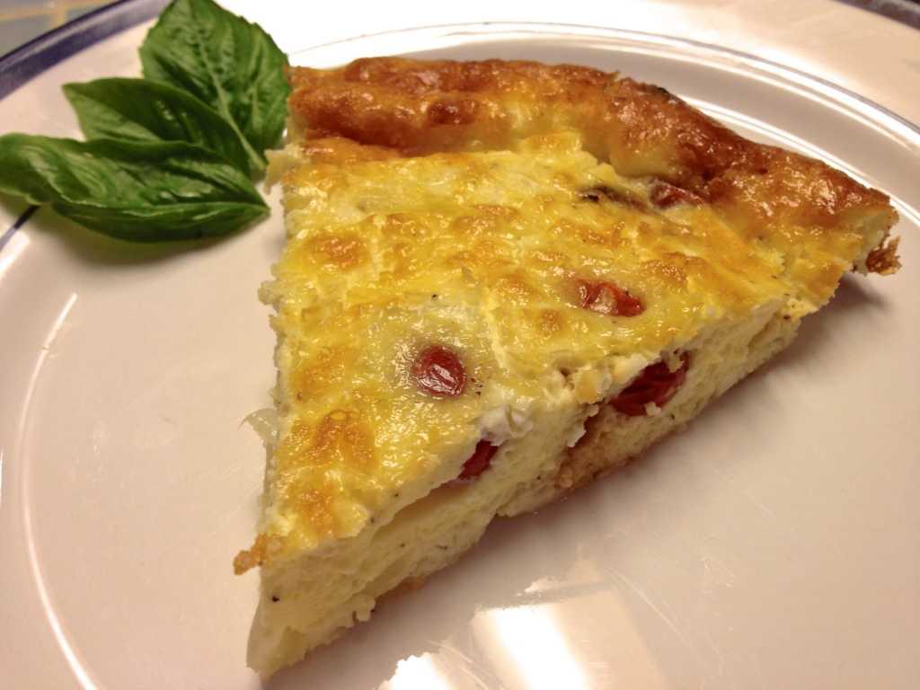 Roasted Tomato and Feta Crustless Quiche via zagleft