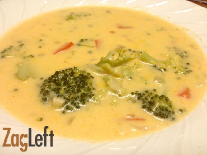 Broccoli Cheddar Soup From Zagleft
