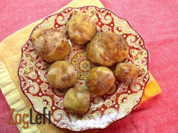 Homemade Pretzels from Zagleft -cinnamon sugar pretzel balls