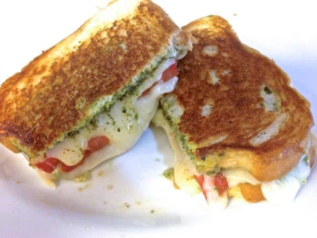 Grilled Mozzarella, Tomato and Pesto Sandwich from Zagleft