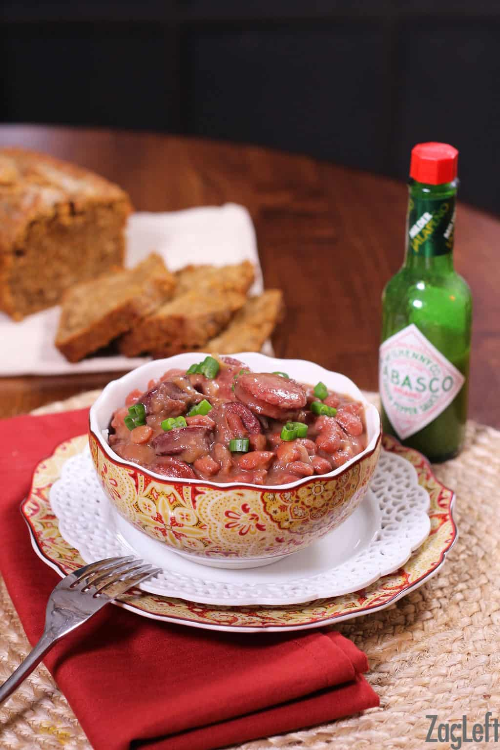 New orleans style red beans and rice zagleft a classic new orleans recipe for red beans and rice made with a pound of red forumfinder Images