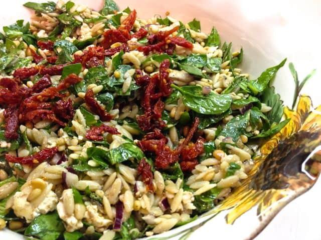 spinach salad zagleft