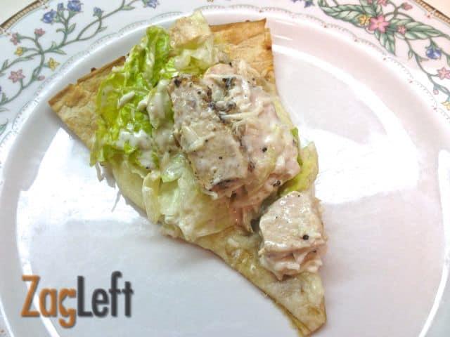 Easy Chicken Caesar Pizza from Zagleft