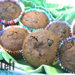 Double Dark Chocolate Banana Muffins from Zagleft b