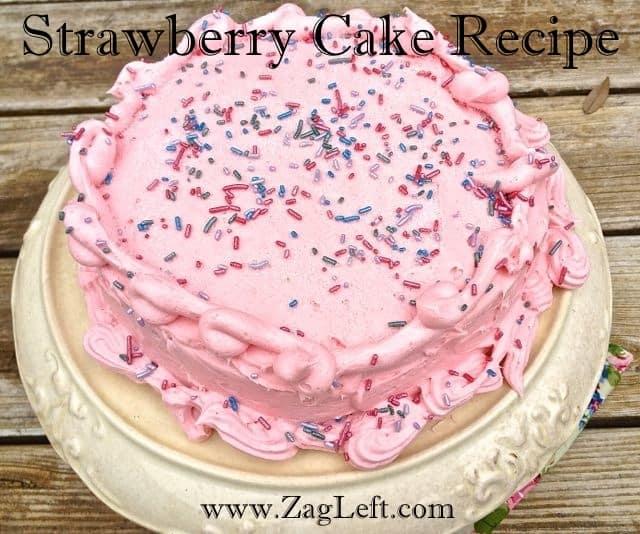 Strawberry Cake Recipe from Zagleft
