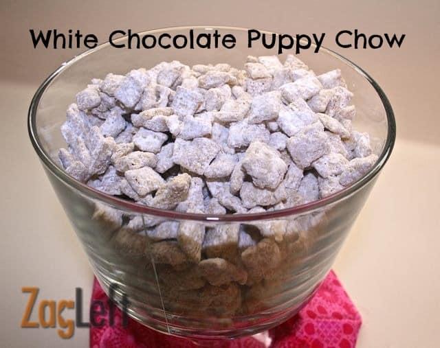 White Chocolate Puppy Chow Zagleft