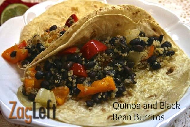 Quinoa and Black Bean Burritos from ZagLeft