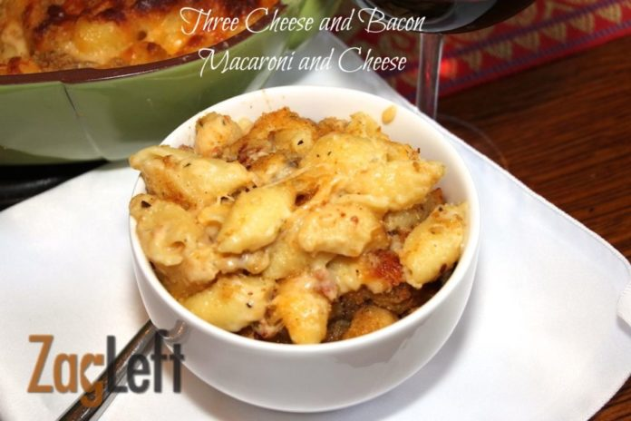 Three Cheese and Bacon Macaroni and Cheese from Zagleft b