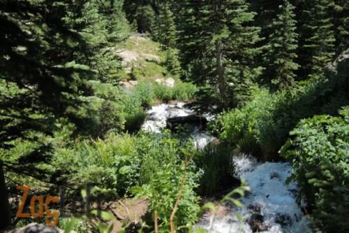Emerald Lake Trail Waterfall from ZagLeft