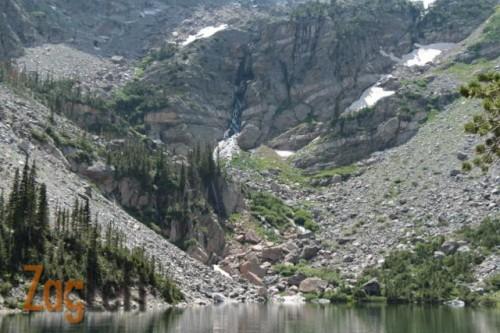 Emerald Lake Waterfall from ZagLeft