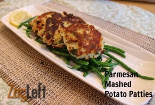 Parmesan Mashed Potato Patties from ZagLeft
