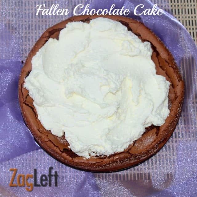 Fallen Chocolate Cake from ZagLeft a