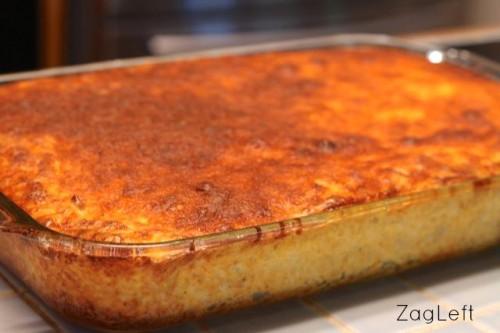 Creamy and delicious Loaded Potato Casserole from ZagLeft