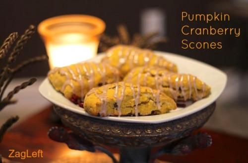 Pumpkin Cranberry Scones  ZagLeft