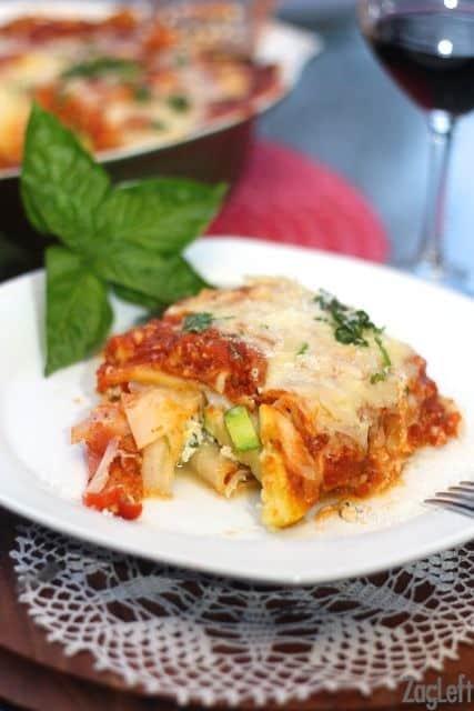 Pumpkin Lasagna with Fontina-ZagLeft