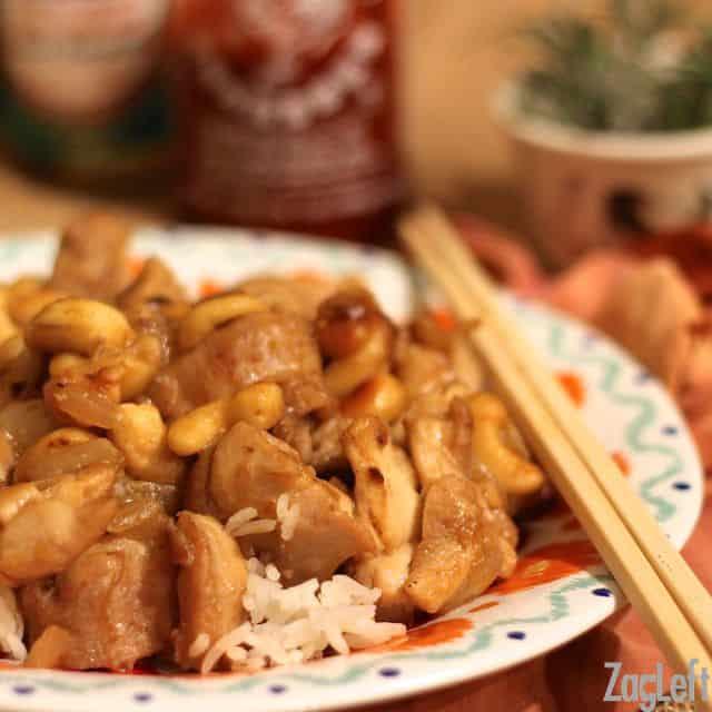 Cashew Chicken - College Student Meals - ZagLeft
