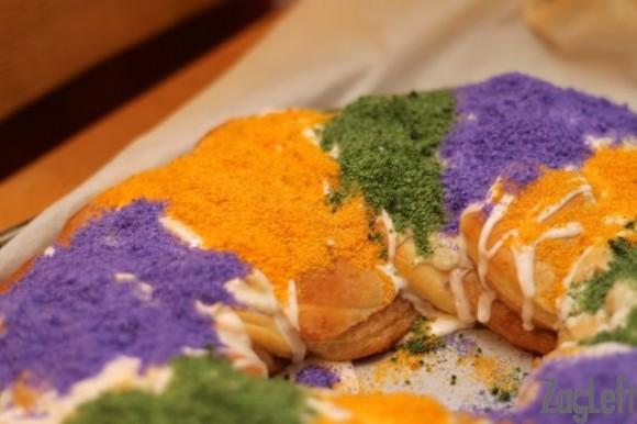 Mardi Gras King Cake Recipe With Cream Cheese Filling