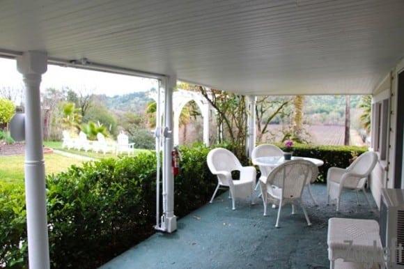 Strawberry Room - private patio - ZagLeft
