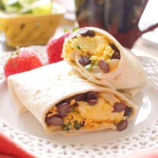 Make Ahead Huevos Rancheros Breakfast Burritos | One Dish Kitchen