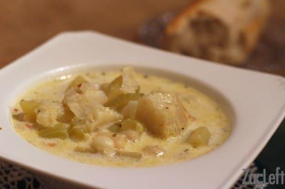 Fish and Scallop Chowder Recipe from ZagLeft