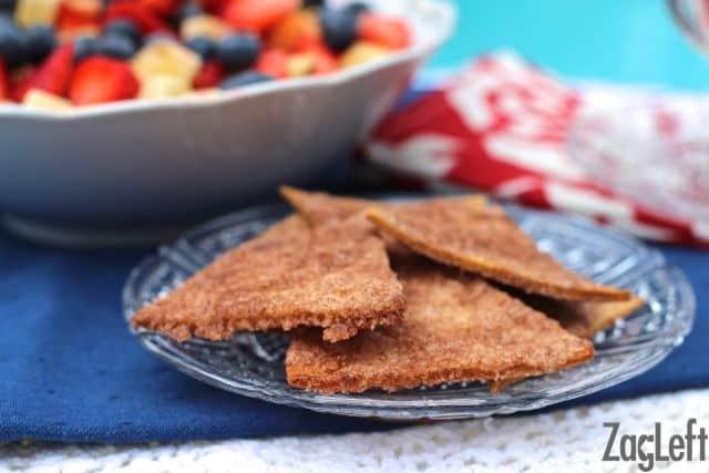 Fruit Salsa with Cinnamon Sugar Crisps from ZagLeft