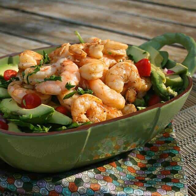 Meatless Meals For Lent - Grilled Shrimp and Avocado Salad : ZagLeft