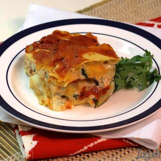 Pumpkin Lasagna with Fontina - Meatless Meals for Lent from ZagLeft