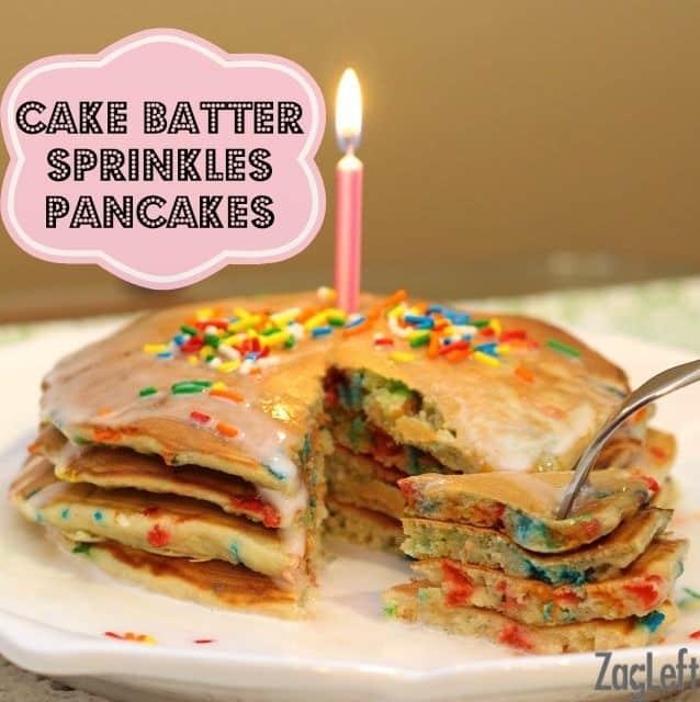 Birthday Cake Batter Sprinkles Pancakes Recipe - ZagLeft