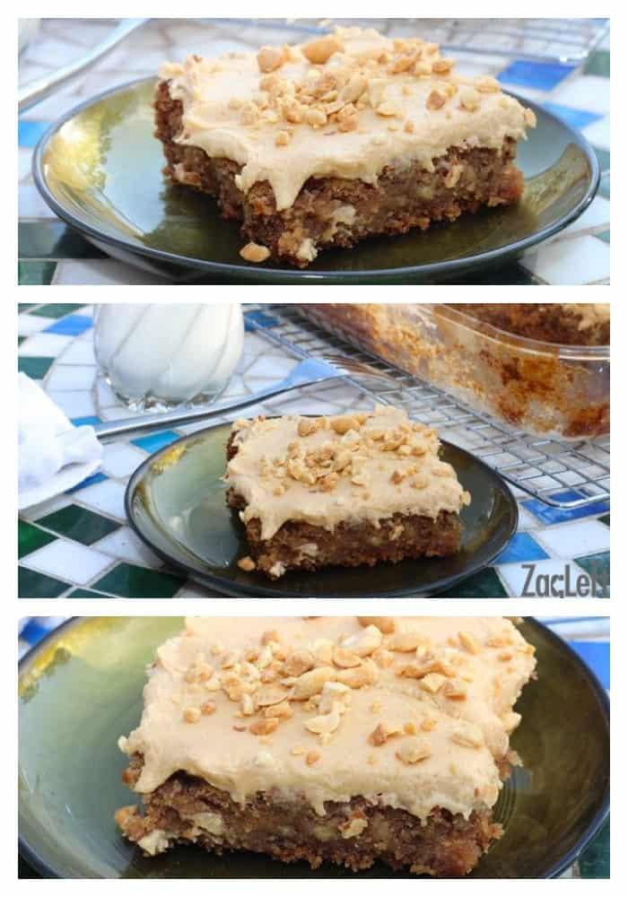 Banana Oatmeal Sheet Cake - the moistest, most flavor packed cake I've ever tasted