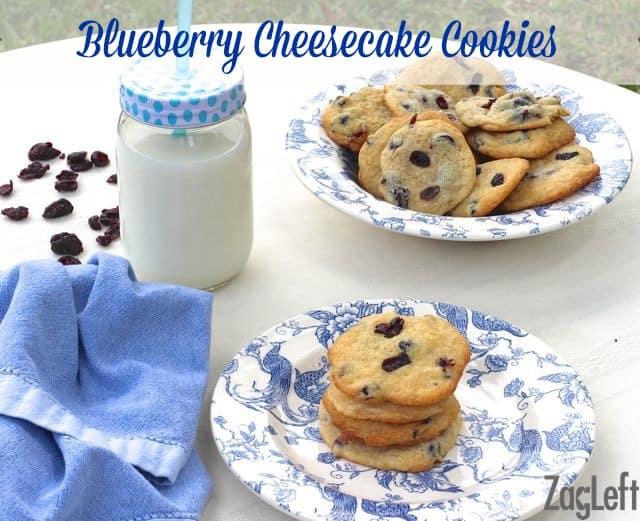 Blueberry Cheesecake Cookies - ZagLeft