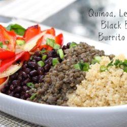 Quinoa, Lentil and Black Bean Burrito Bowl ZagLeft