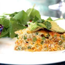Flavorful Pea, Cheddar and Crispy Pancetta Crustless Quiche Recipe | ZagLeft
