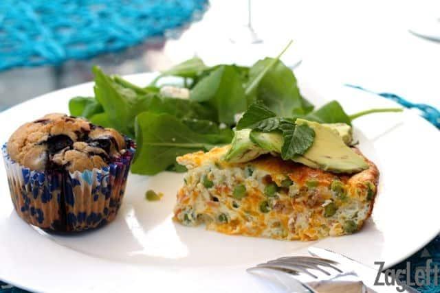 Pea, Cheddar and Crispy Pancetta Crustless Quiche Recipe - ZagLeft