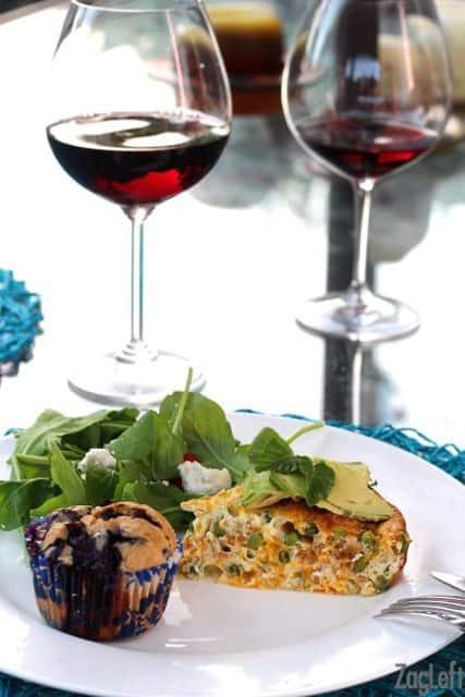 Pea, Cheddar and Crispy Pancetta Crustless Quiche - www.zagleft.com