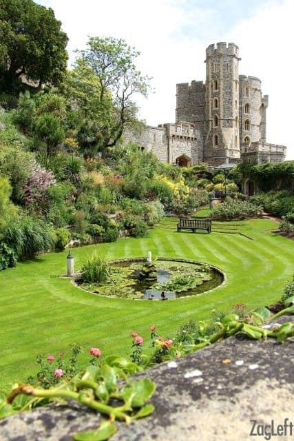 The gardens in Windsor Castle - ZagLeft