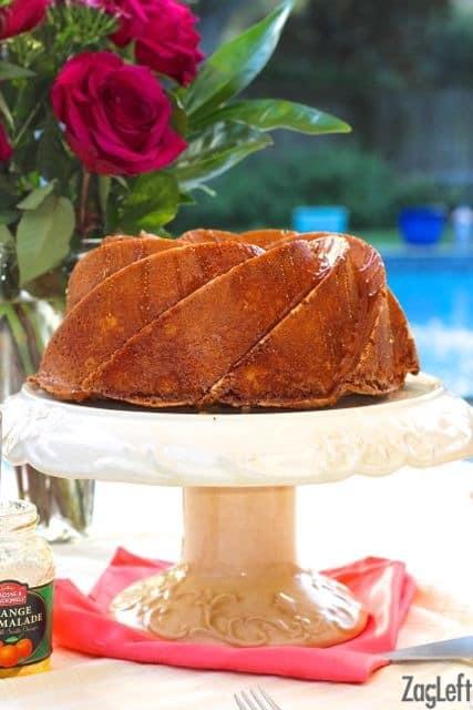 Orange Buttermilk Bundt Cake. If you love the taste of oranges, you'll love this cake! | www.zagleft.com