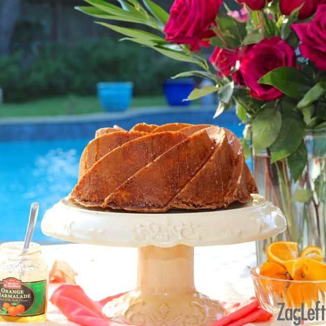 Pretty and delicious Orange Buttermilk Bundt Cake from ZagLeft