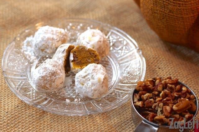 Pumpkin Pecan Polvorones from Zagleft