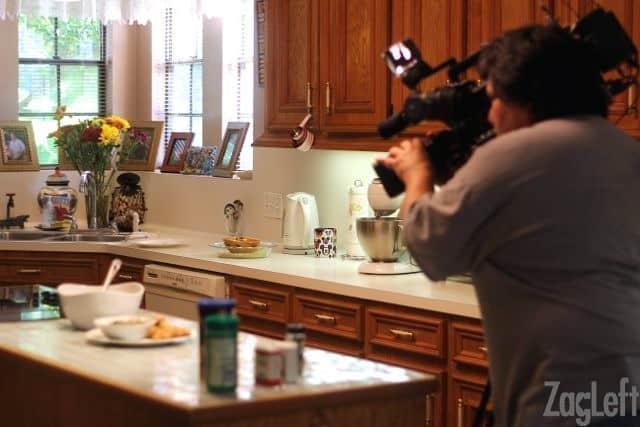 Filming in Kitchen - Zagleft