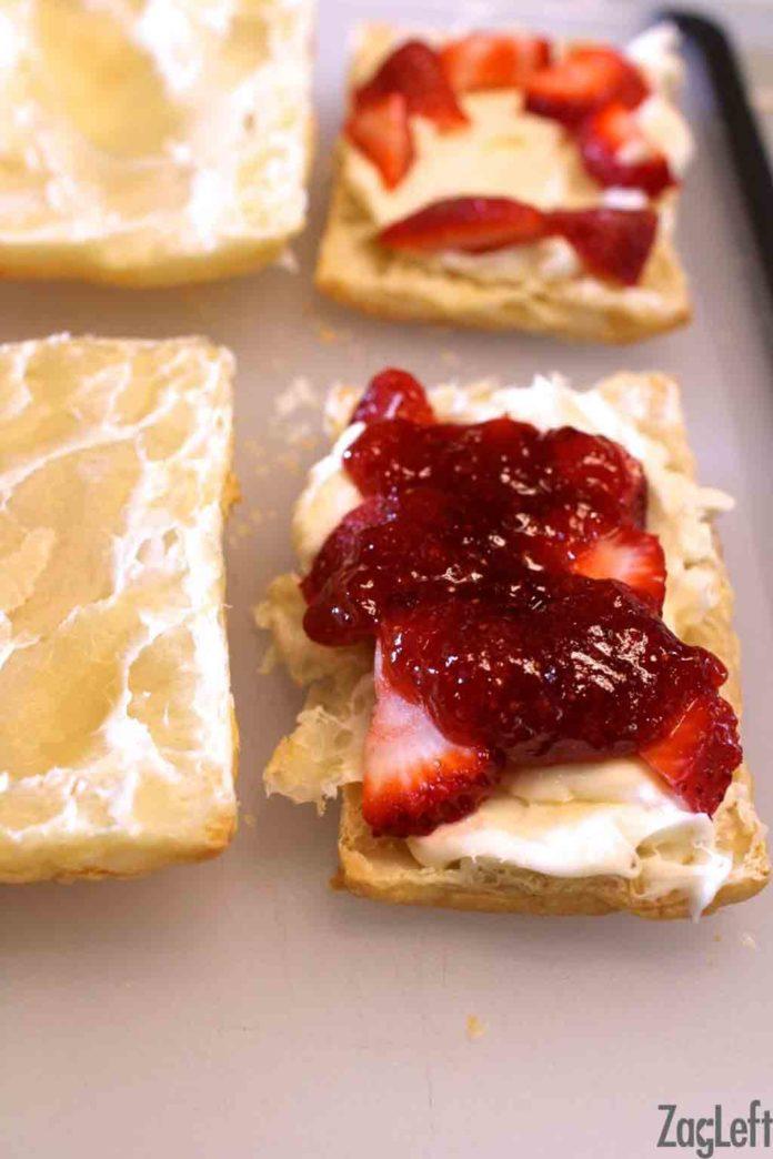 Strawberry Cheesecake Puffs   ZagLeft