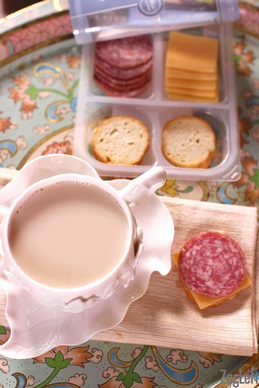 Hillshire Snacking Snack Packs plus a recipe for Cinnamon-Star Anise Tea Latte | www.zagleft.com