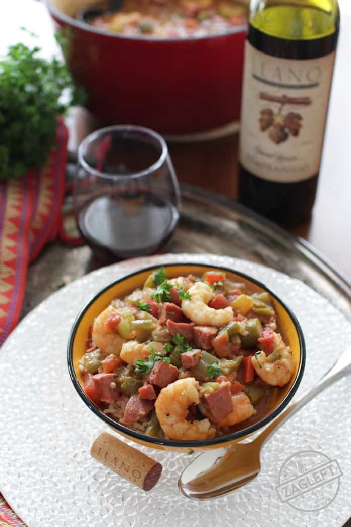 Smoked Sausage and Shrimp Gumbo, easy to make, authentic New Orleans style recipe made in a Dutch Oven | ZagLeft