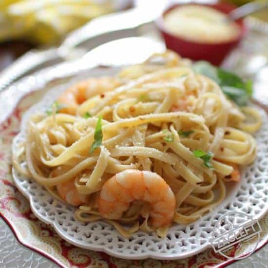 Shrimp Fettuccine For One | ZagLeft