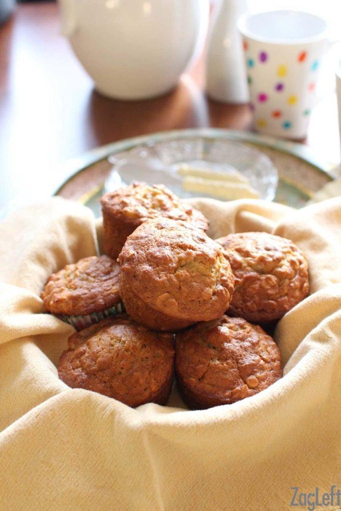 Banana Oat Pecan Muffin Recipe | ZagLeft