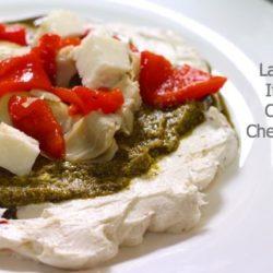 layered italian cream cheese dip on plate
