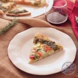 pesto pizza slice